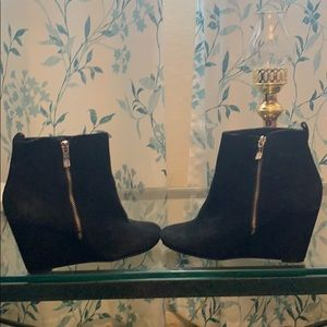 Black Wedged Ankle Boots